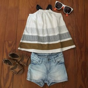 Gap Tank Top with Stone Wash Jean Shorts